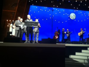 Balsam Range, accepting the IBMA award for Song of The Year, for 'Moon Over Memphis'.