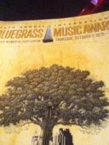 The program cover for the 2015 IBMA awards booklet.  Every year there's a new art design for the annual conference.