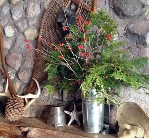 Winterberry and cedar prunings can bring the season indoors. Photo: Martha Foley