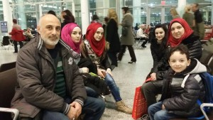 First Syrian refugee family landed in Toronto, December 9, 2015. Photo: Domnic Santiago, Creative Commons, some rights reserved