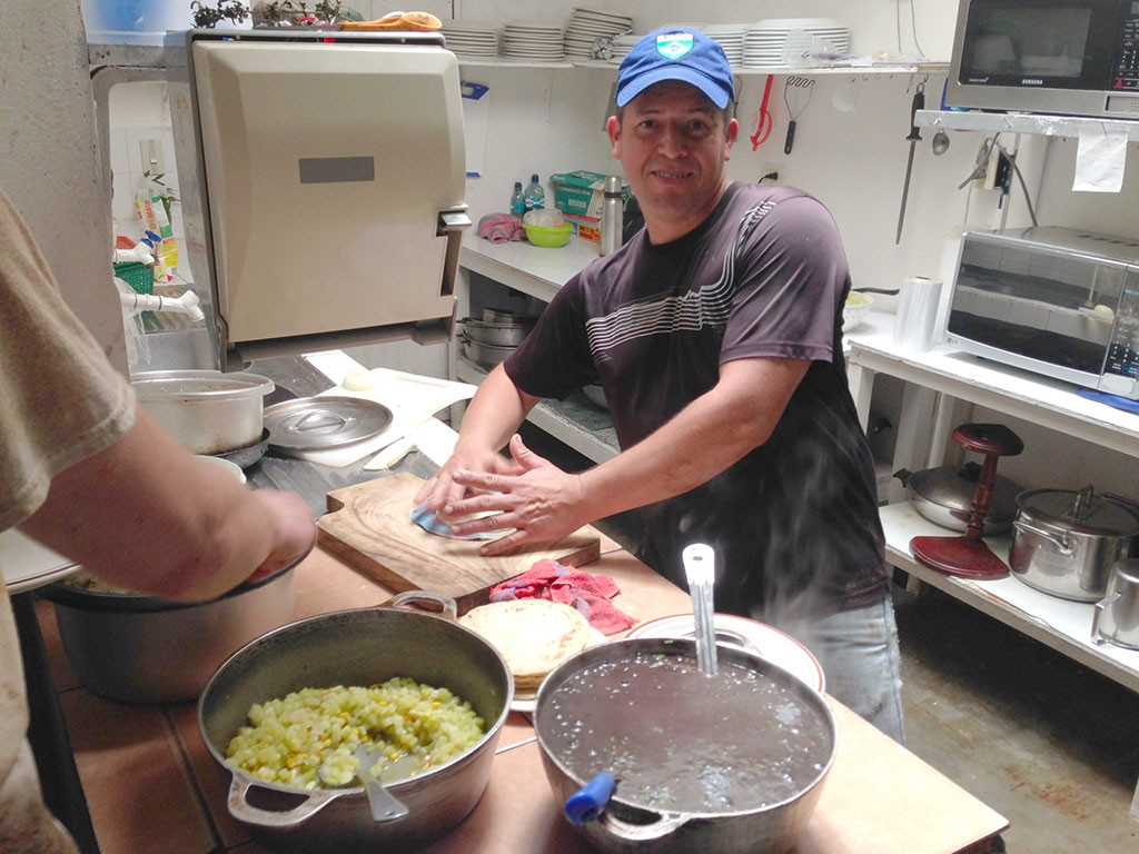 Randall in the kitchen. Photo: Helder Rocha
