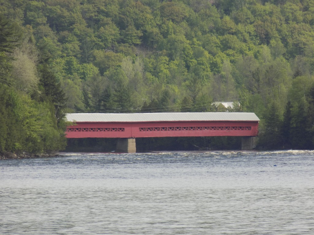 The Gendron Covered Bridge spans the Gatineau River.  Photo by James Morgan
