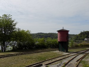 The old water tower for the Wakefield tourist train steam engine.  Photo by James Morgan
