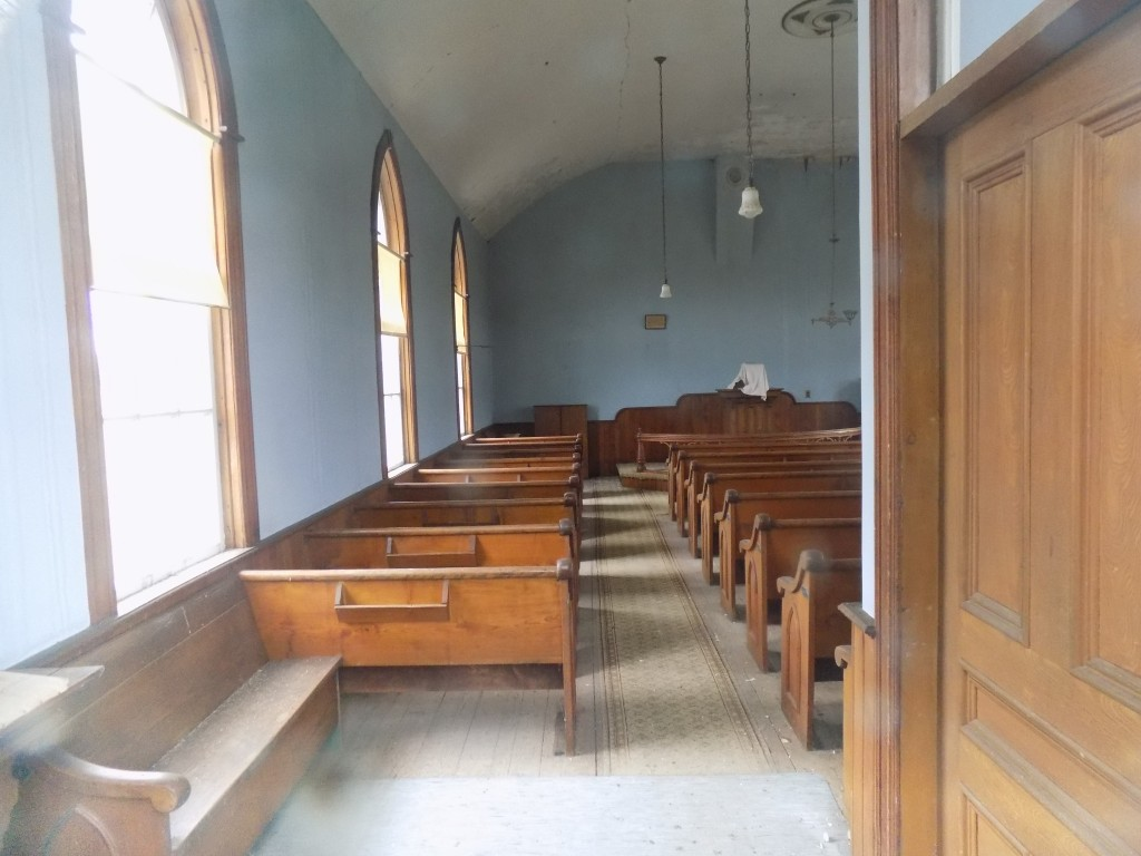 Inside Powerscourt United Church.  Photo: James Morgan