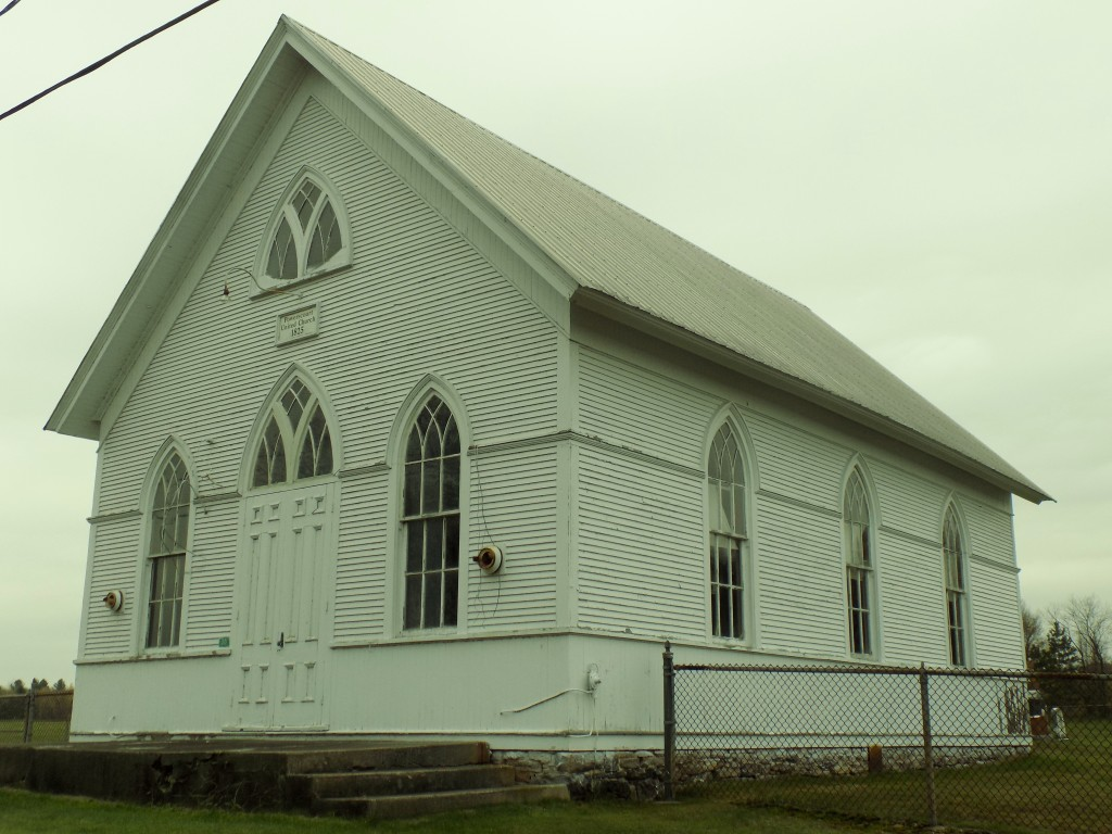 Powerscourt United Church, built in 1825.  There's an old cemetery surrounding it.  Photo: James Morgan