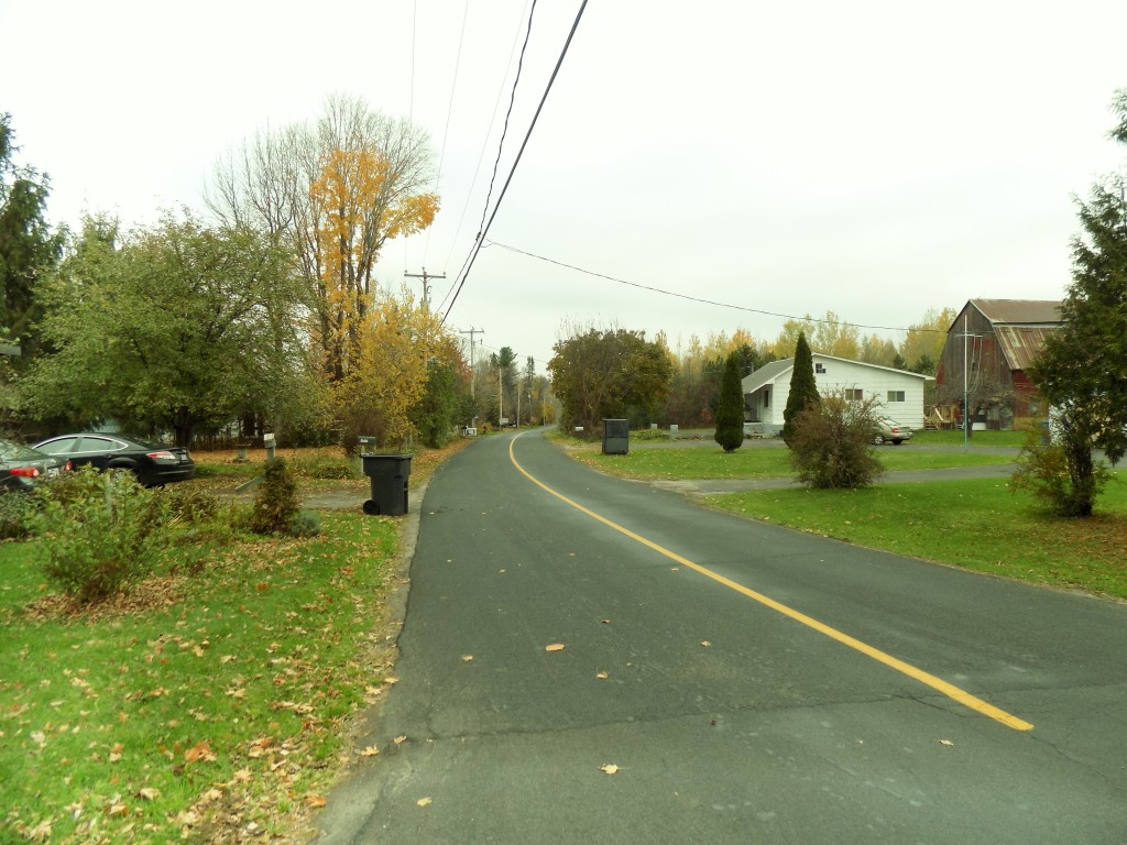 Downtown Powerscourt, Quebec, looking north on the Athelstan Road.