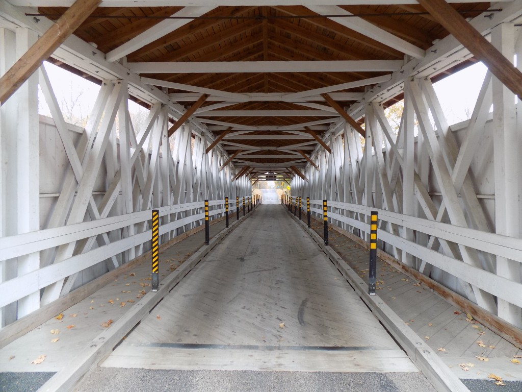 Inside the bridge.  Photo: James Morgan