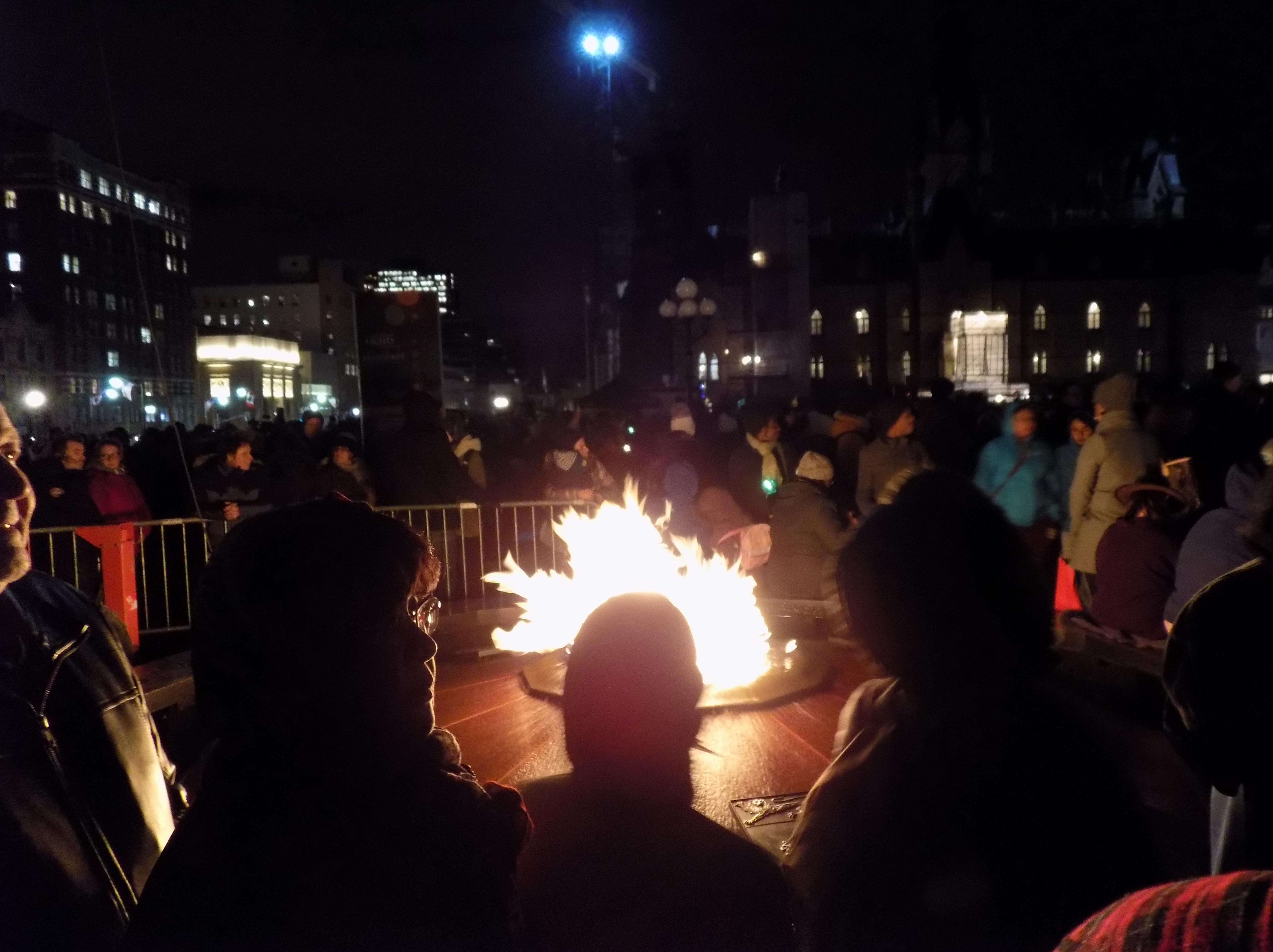 the centennial flame on parliament hill contributed to the holiday spirit it was supposed to