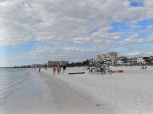 The powdery white sand of Siesta Key Beach near Sarasota, Florida.  Photo: James Morgan