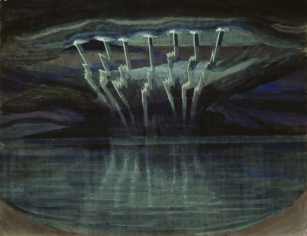 """""""Lightning,"""" 1909. Artist: Mikalojus Konstantinas Ciurlionis"""