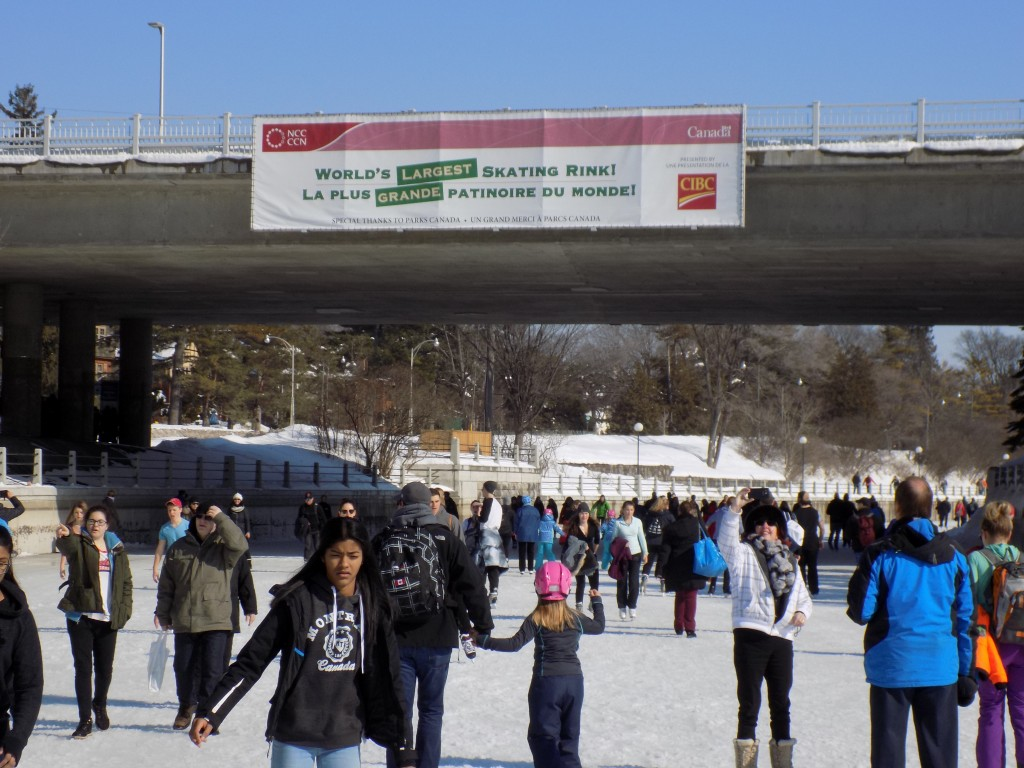It was warm weather for skating on the Rideau Canal on the last weekend of Winterlude.  Photo: James Morgan