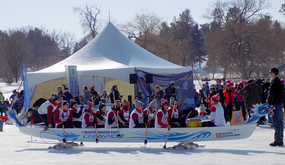 This team placed first in one of the morning mixed races. Photo: James Morgan