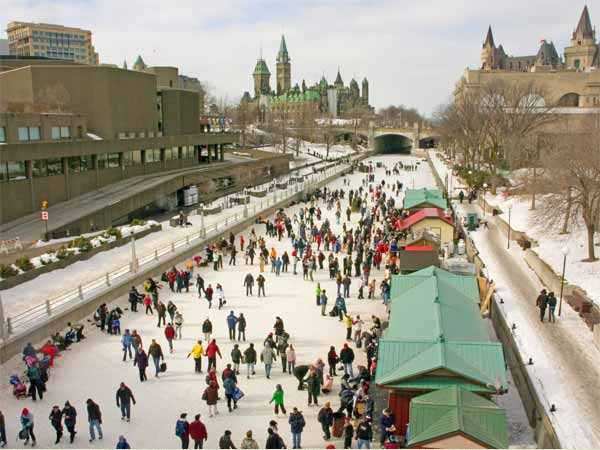 A few of the tens of thousands of skaters on Ottawa's Rideau Canal during Winterlude. Archiive Photo of the Day: Judy Andrus Toporcer, Pierrepont NY.