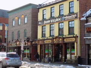 """The """"Irish Village"""" area on Clarence Street in the By Ward Market is a series of Irish-themed pubs.  Photo: James Morgan"""