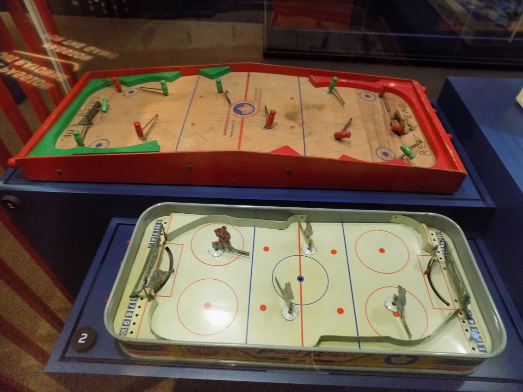 Tabletop hockey games have always been popular with Canadians.  Photo: James Morgan