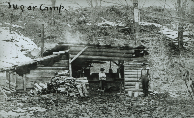 Sugar Camp in North Creek, 1907. Donated by William Waddell. Photo courtesy of the Adirondack Museum.