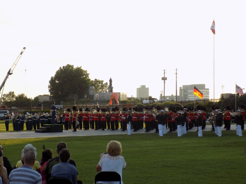 The Canadian and American bands performed the 1812 Overture.