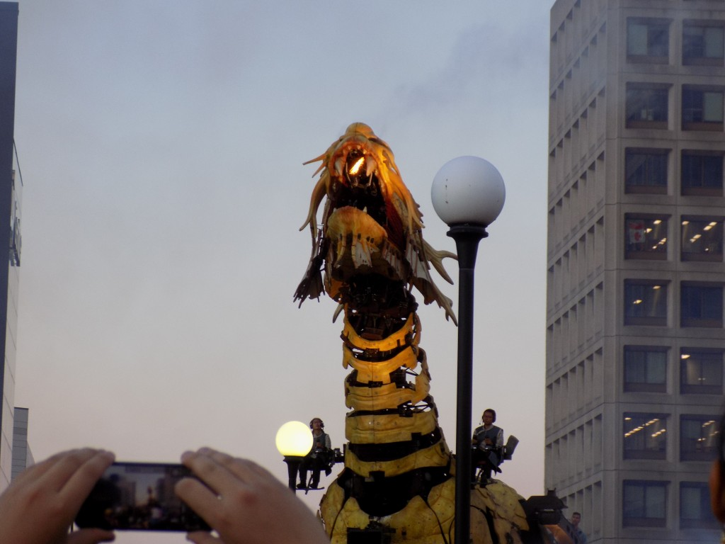 A fire-breathing dragon in downtown Ottawa!  Photo: James Morgan