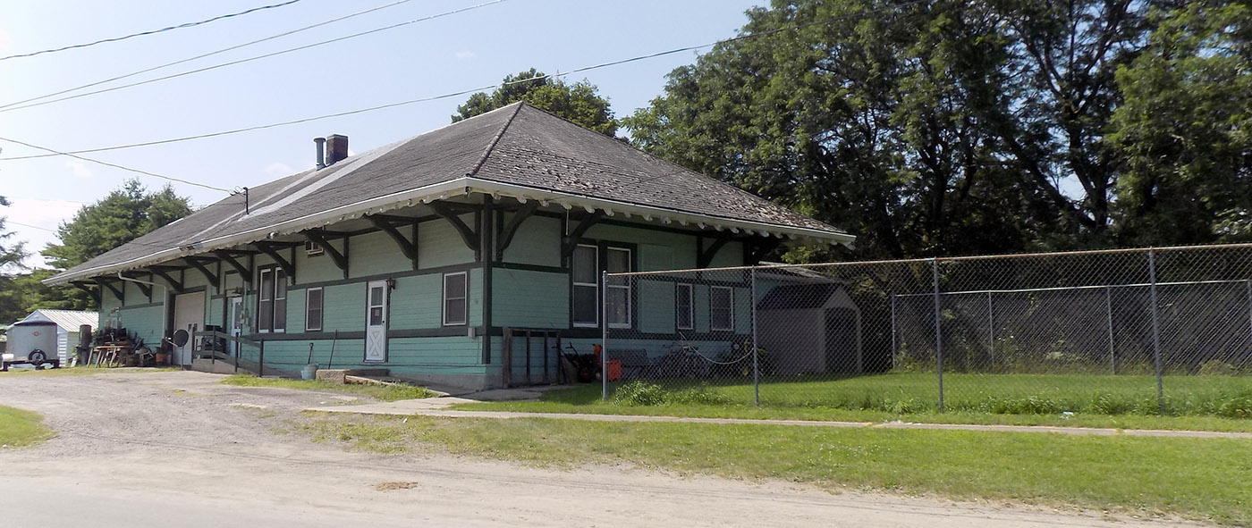 The former railroad station in Heuvelton. It was near here that a major Canada-U.S. defense agreement was reached in August, 1940. Photo: James Morgan