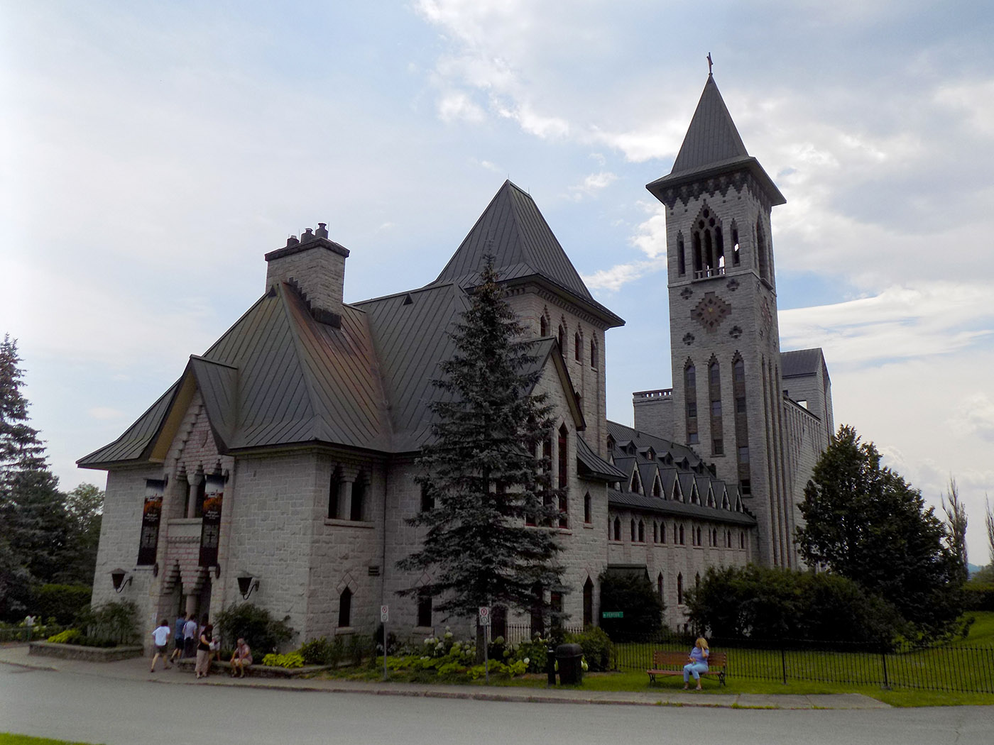 The front of the main abbey building at St. Benoit du Lac. Photo: James Morgan