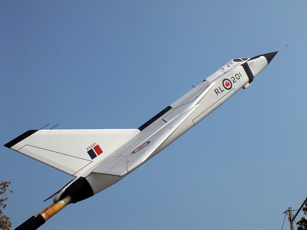 Model of the Avro CF-105 Arrow at Zurakowski Park in Barry's Bay, Ontario. Photo: James Morgan