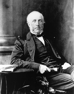 George Brown, a Canadian Father of Confederation, founded The Globe in 1844 in Toronto.  In 1936, The Globe took over The Mail and Empire and became The Globe and Mail.  Photo: Public Archives of Canada.