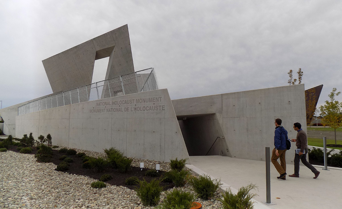 The entrance to the National Holocaust Monument in Ottawa. Photo: James Morgan
