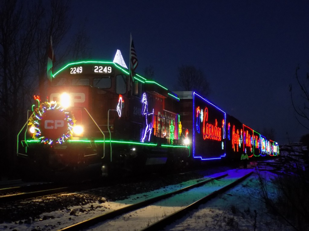 The Canadian Pacific Holiday Train in Merrickville, Ontario.  Photo: James Morgan