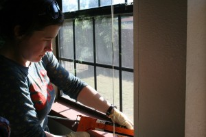 Caulking windows and other gaps can keep down the lady beetle population and cut your heat bill. Photo: 350.org, Creative Commons, some rights reserved