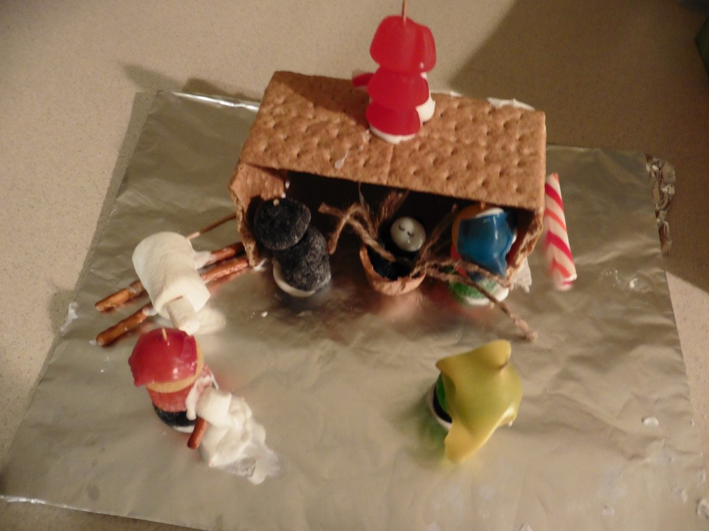 Jimmy's candy nativity.  Photo: Jessica Carter.