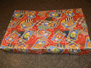 The old Sears Christmas gift box.  Photo: Dodi Morgan.