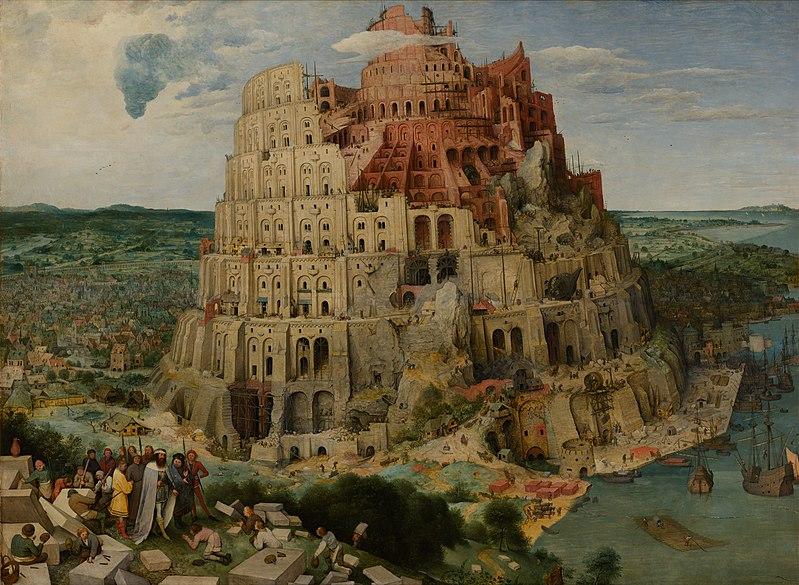 """""""The Tower of Babel"""" by Pieter Bruegel the Elder (1563), Kunsthistorisches Museum, Vienna, Austria"""