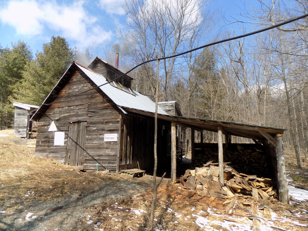 The Shanty Men maple sugar house at Fortune Farms in Lanark County, Ontario.  Photo: James Morgan