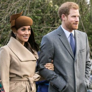 Prince Harry and Meghan Markle going to church at Sandringham on Christmas Day 2017. Photo: Mark Jones, Creative Commons, some rights reserved