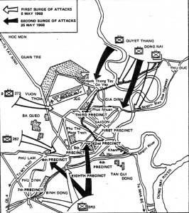 May Offensive attacks in Saigon. Map: U.S. Army Center of Military History