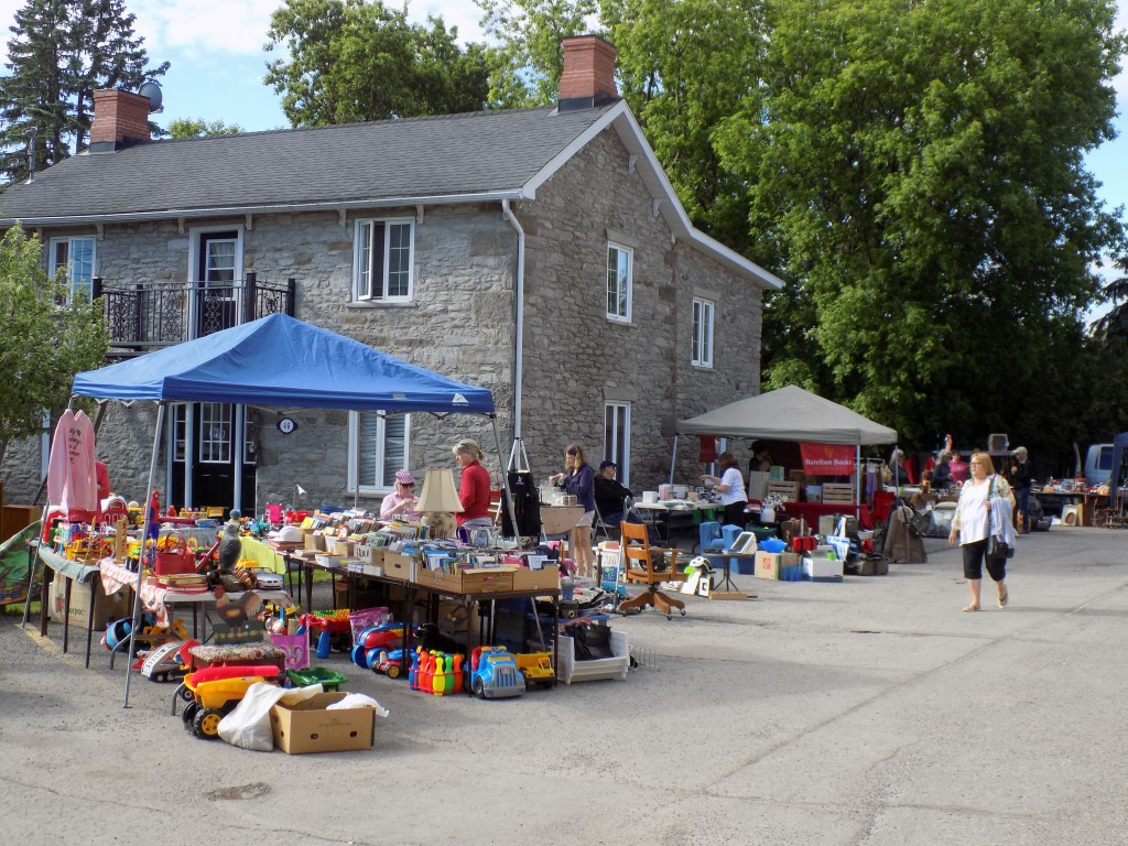 Trash and Treasure vendors set up on Main Street in Vankleek Hill.  Photo: James Morgan