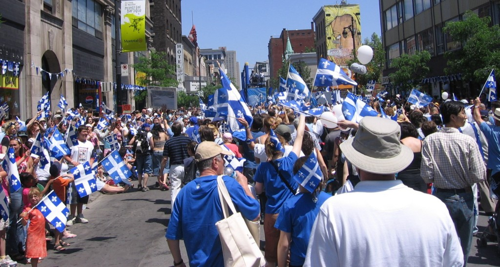 Fête nationale du Québec celebrations in Montreal, 2006. Photo: Montrealais, Creative Commons, some rights reserved