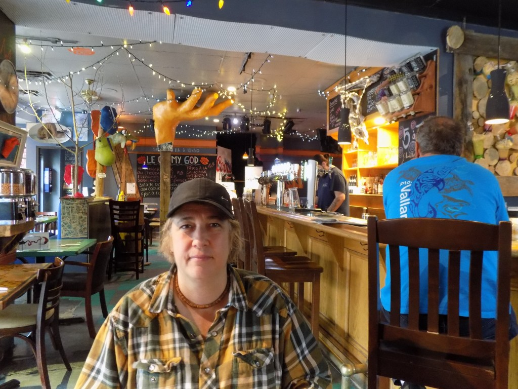Carol Lajeunesse owns Bistro LaLa in Buckingham, Quebec.  She's boycotting certain American products because of President Donald Trump's remarks to Prime Minister Justin Trudeau.  Photo: James Morgan