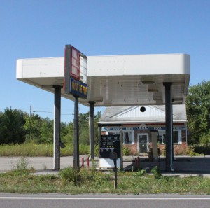 Abandoned gas station on Rt. 68 between Canton and Ogdensburg