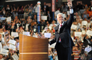 Bill Clinton at the Democratic National Convention (Source:  DNC)