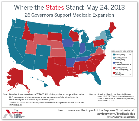 The States Where Most Americans Live Are Adopting Key Provisions Of Obamacare Map The