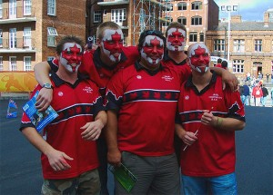 Team Canada fans in Cardiff. Photo: Rob Stradling, Creative Commons, some rights reserved