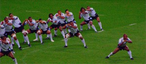 The Fijian rugby team lay down the challenge to Canada in a 2007 match in Cardiff. Photo: Rob Stradling, Creative Commons, some rights reserved