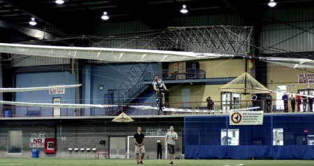 AeroVelo's winning flight. Photo: The Vertical Flight Technical Society