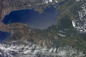 Lake Ontario seen from the International Space Station, 7/4/11.  Photo:  NASA's Marshall Space Flight Center, Creative Commons, some rights reserved