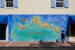 Canadian annex? Turks and Caicos map mural, Providencales and West Caicos. Photo: Rian Castillo, Creative Commons, some rights reserved.