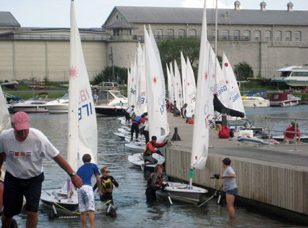 Did I mention it's waterfront? Kingston Penitentiary beside a busy boat harbor in 2009. Photo: Lucy Martin