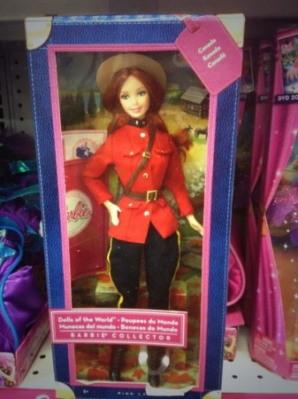 RCMP Barbie on display at Toys 'R' Us. Photo: Gina Phillips, used by permission