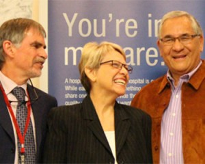 Dr. Duncan Stewart, Harriet Garrow and Peter Garrow. Photo: Ottawa Hospital Research Institute