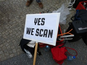 Sign carried in protest against NSA surveillance programs. Photo: Mike Herbst, Creative Commons, some rights reserved